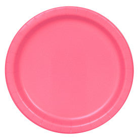 "Hot Pink Solid Round 9"" Dinner Plates, 8ct"