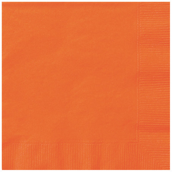 Orange Luncheon Napkins, 20ct