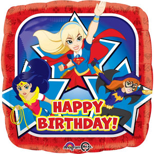 "18"" DC Super Hero Girls Happy B'day Foil Balloon"