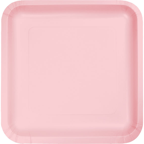 Pastel Pink Solid Square 7