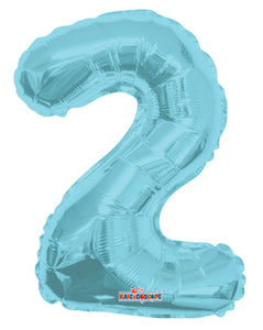 "14"" Number 2 Foil Balloon (4 Colors) ..."