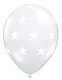 "11"" Big Stars Diamond Clear Balloon.,."