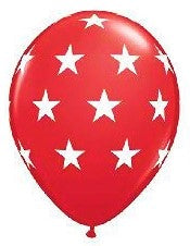 "11"" Big Stars Red Balloon.,."