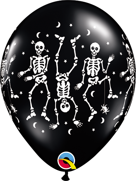 Spooky Onyx Black with Dancing Skeletons Halloween 11