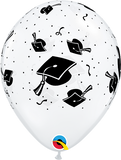 "11"" Clear Graduation Caps Latex Balloon..."