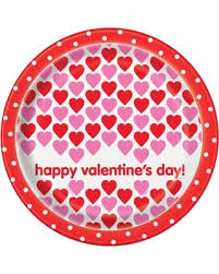 """Happy Valentine Hearts"" Football Round 9"" Dinner Plates, 8ct"
