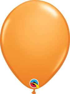 "Orange 11"" Latex Balloon"