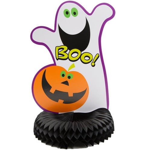 Pumpkin Boo Halloween Party Honeycomb Centerpiece Ghost