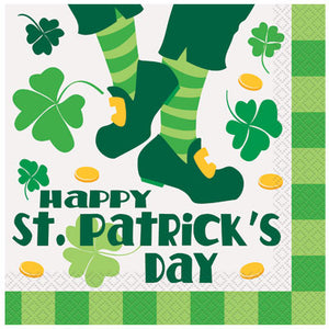 St. Patrick's Day Jig Luncheon Napkins, 16ct