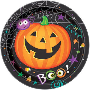 "Halloween 9"" Pumpkin Pals Dinner Plates, 8ct."