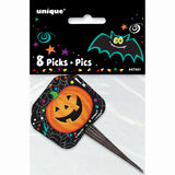 "Halloween Pumpkin Pals Picks 3.5"", 8ct"