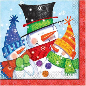 Snowman Buddies Luncheon Napkins 16ct