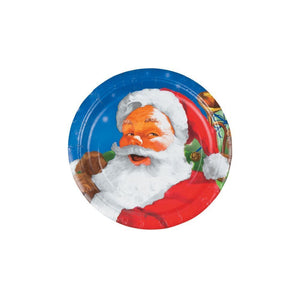 "Holiday Santa 7"" Dessert Plates 8ct"