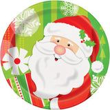 "Happy Santa Round 7"" Dessert Plates, 8ct"