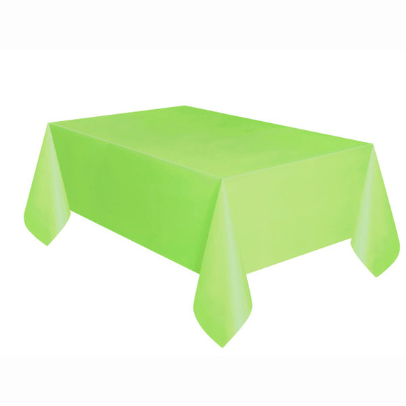 Green Rectangular Plastic Table Cover, 54