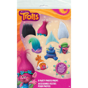 Trolls Party Photo Props, 8ct.