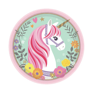 "Magical Unicorn 7"" Paper Plates, 8ct"