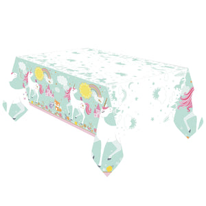 "Magical Unicorn Plastic Table Cover, 54"" x 96"""
