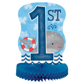 Little Sailor Nautical First Birthday Honeycomb Centerpiece, 14