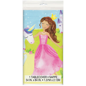 "Magical Princess Rectangular Plastic Table Cover, 54"" x 84"""