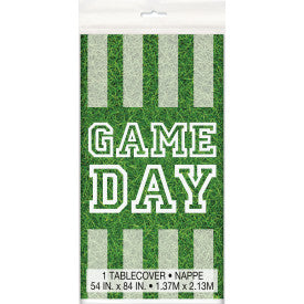 """Game Day"" Football Rectangular Plastic Table Cover, 54""x84"""