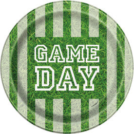 """Game Day"" Football Round 7"" Dessert Plates, 8ct"
