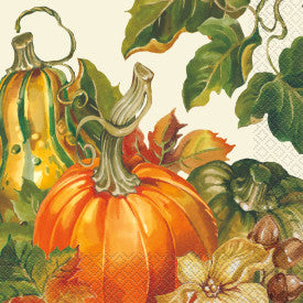 """Harvest Pumpkins"" Thanksgiving Luncheon Napkins, 20ct"