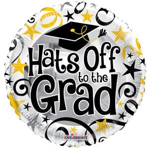 "18"" Hats Off To The Grad! Foil Balloon"