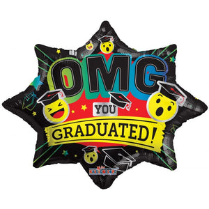 "20"" OMG! You Graduated! Foil Balloon"