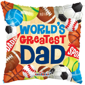 "18"" Dad's A Great Sport Foil Balloon"