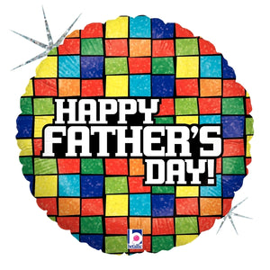 "18"" Holographic Mosaic Happy Father's Day Balloon"