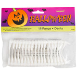 Halloween White Fangs, 18ct