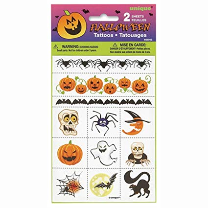 Halloween Temporary Tattoos, 24ct.