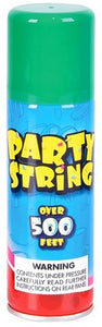 Party Silly String Green, 3oz ,.,