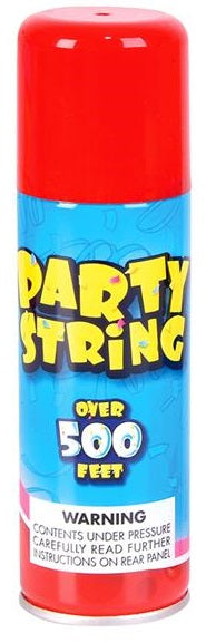 Party Silly String Red, 3oz ,.,