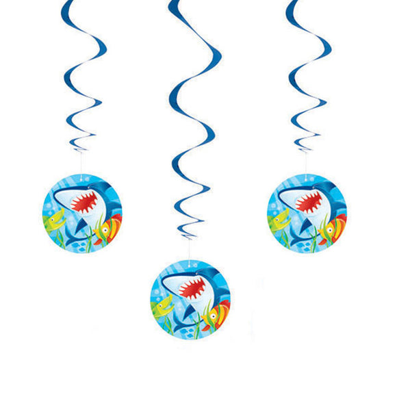 Fin Friends Shark Swirl Decorations, 26