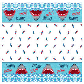 "Shark Party Rectangular Plastic Table Cover, 54""x84"""