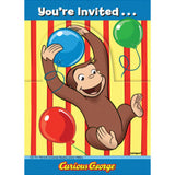 Curious George Animated Invitations, 8ct