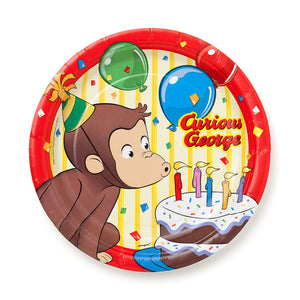 "Curious George 7"" Dessert Plates, 8ct."