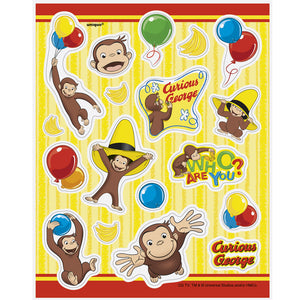Curious George Stickers, 4 Sheets