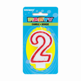 Number 2 Deluxe Birthday Candle