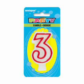 Number 3 Deluxe Birthday Candle