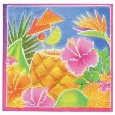 Tropical Luau Beverage Napkins, 16 ct.