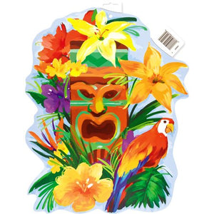 "16.5"" Paper Cut Out Tiki Tropics Luau Decoration"