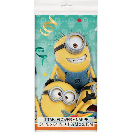 Minions Rectangular Plastic Table Cover, 54