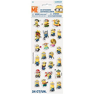 Minions Puffy Stickers, 24pc
