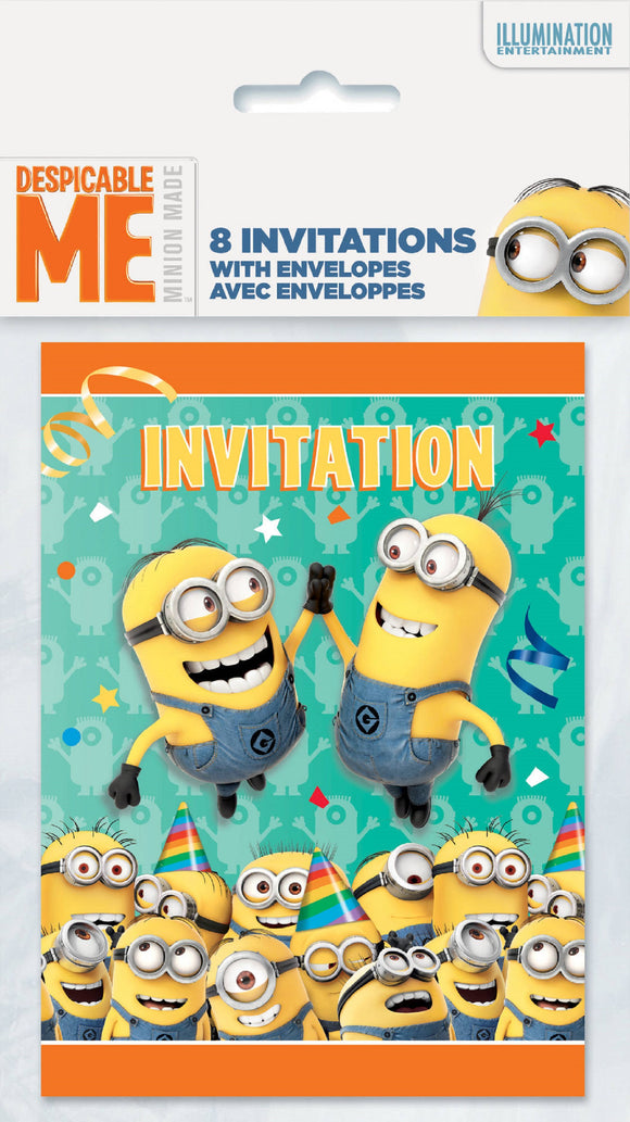 Minions Invitations, 8ct