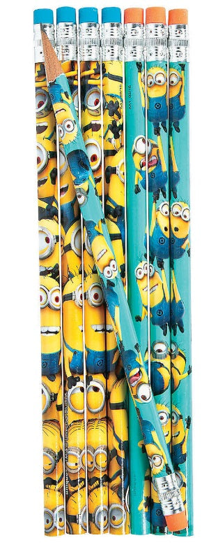 Minions Wooden Pencils, 8ct