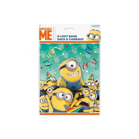 Minions Loot Bags, 8ct