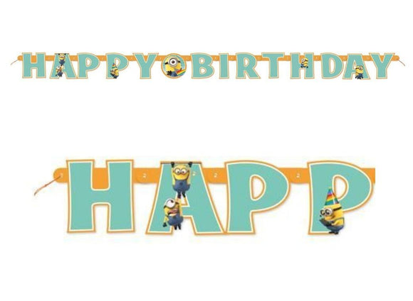 Minions Happy Birthday Banner, 6.25 ft